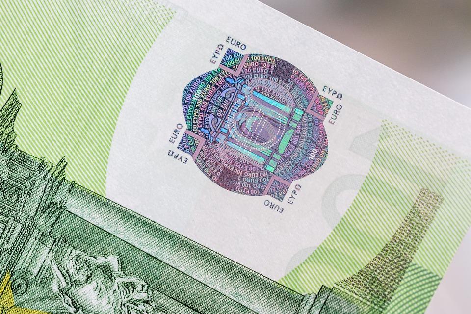 část bankovky