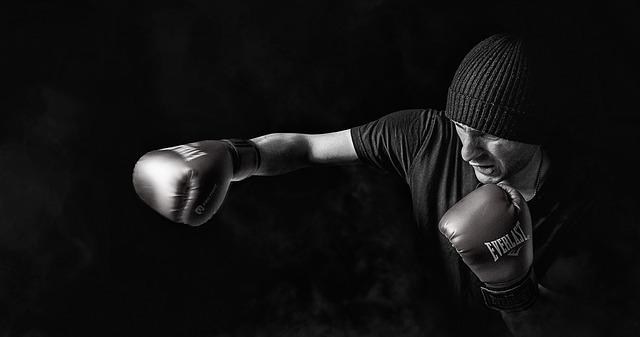 boxovací rukavice, muž, čepice