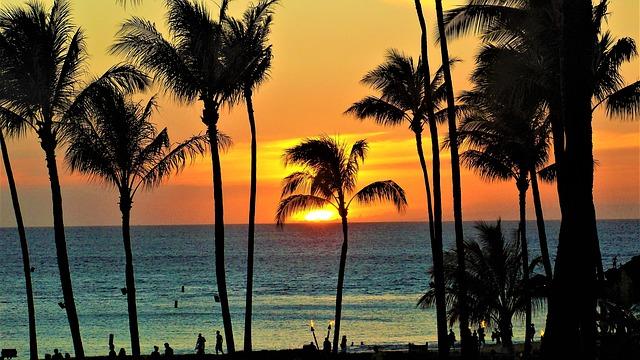 západ slunce na havaji