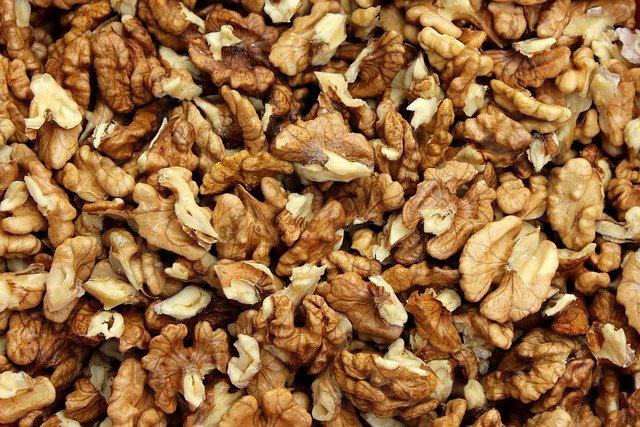 vylouskané ořechy